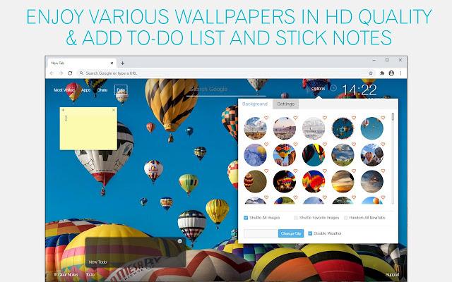 Hot Air Balloon Wallpaper HD Hot Air Balloon New Tab