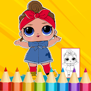Dolls Surprise Coloring Book Lol