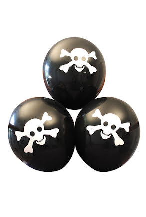 Dödskalleballonger, 6 st