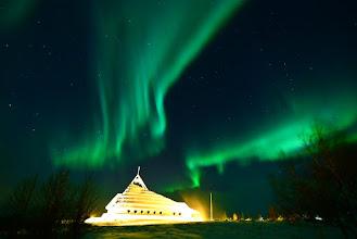 Photo: Aurora Boreale vista da Solheimar, islanda Meridionale. www.90est.it
