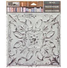 7 Gypsies Architextures Adhesive Tin Tiles 5.75X5.75 - White Wash  UTGÅENDE