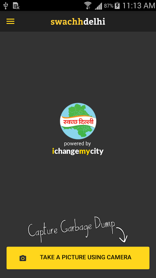 Swachh Delhi:The Official App- screenshot