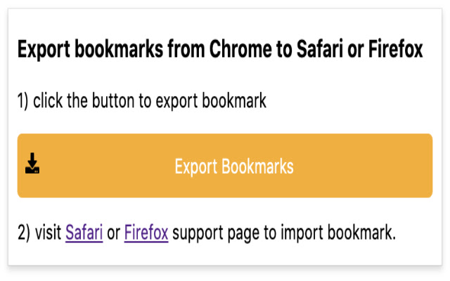 Import/Export Chrome Bookmarks