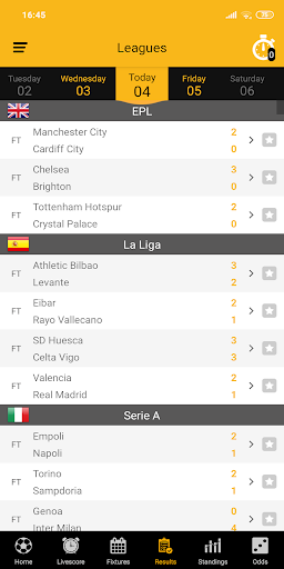 Live Soccer Scores 2.1.0 screenshots 4