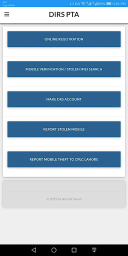 PTA Device Registration - Register Mobile Devices App Report on