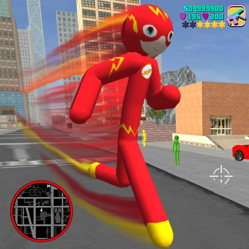 Flash Stickman rope hero - Speed Hero Vigas City