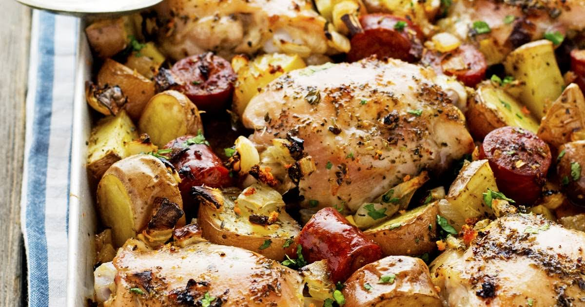 Spanish Chicken with Chorizo and Potatoes Recipe
