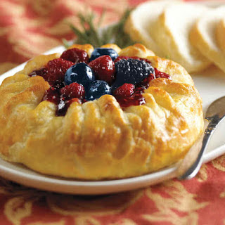 Triple Berry Baked Brie.