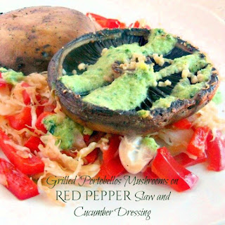 Grilled Portobello Mushrooms Red Pepper Recipes