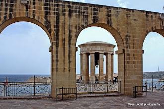 Photo: 2011-04-24. Malta. Valletta. Siege Bell Monument.  www.loki-travels.eu