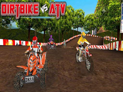 Dirtbike Vs Atv - Offroad Race
