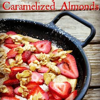 Strawberry Soufflé Omelet with Caramelized Almonds.