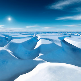 north pole by Markus Gann - Illustration Sci Fi & Fantasy ( antarctic, illustration, travel, sky, nature, pole, cold, shadow, snow, arctic, climate, majestic, global, white, horizon, tourism, sunlight, glacier, winter, environment, warming, horizontal, view, glacial, panoramic, graphic, antarctica, peak, north, beauty, frozen, landscape, space, sun, panorama, clear, area, ice, endless, men, polar, extreme, beautiful, wilderness, blue, freeze, outdoor, south, cloud, scenery )
