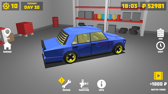 Retro Garage – Car Mechanic Simulator Mod Apk (Unlimited Money) 2