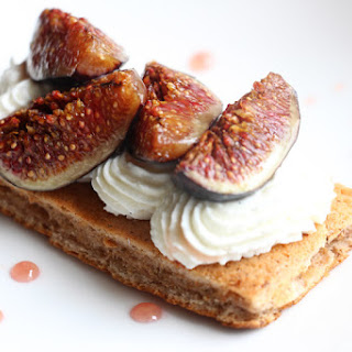 Walnut, Mascarpone & Figs Dessert.