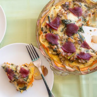 """""""All the Good Stuff"""" Day-After Thanksgiving Leftover Crustless Quiche"""