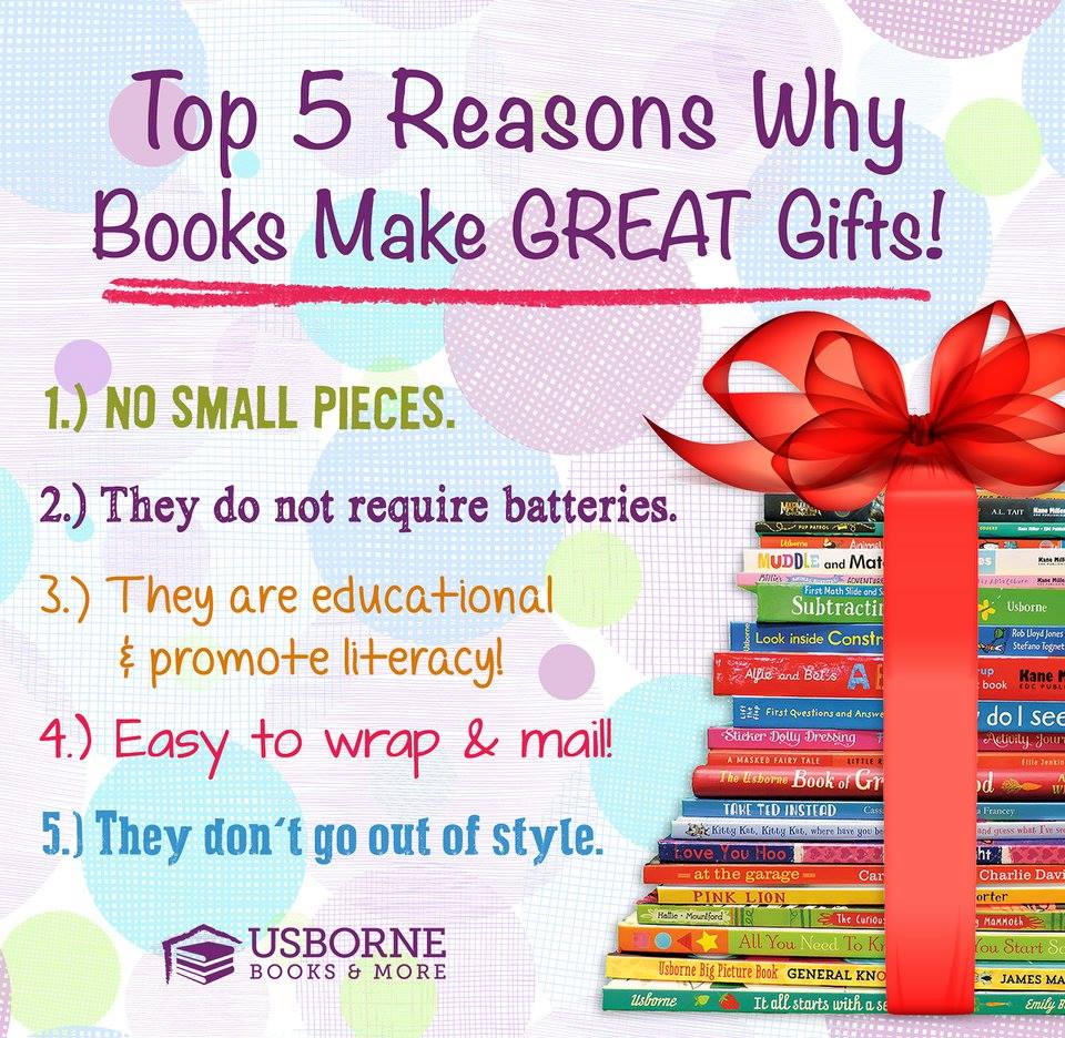Top 5 reasons why books make great gifts. Use Usborne Books in your Homeschool!