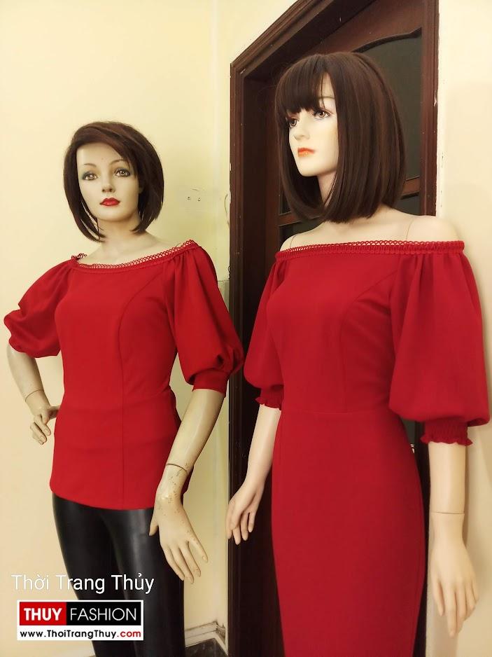 Váy áo tay bồng nữ tính và quyến rũ V669 tại sài gòn