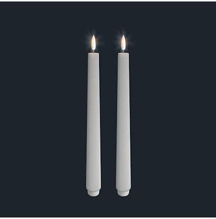 UYUNI Kronljus LED 2-pack - Vit - 2,5 x 28 CM