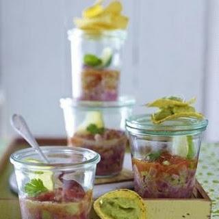 Thunfisch-Cevice mit Guacamole