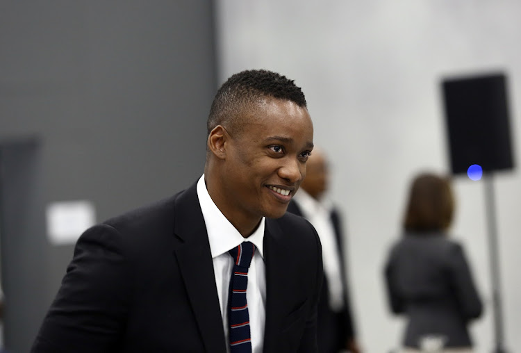 Duduzane Zuma seen smiling at the state capture commission on Wednesday. Picture: MASI LOSI