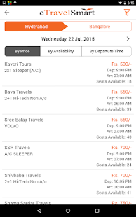 online bus ticket booking app- screenshot thumbnail