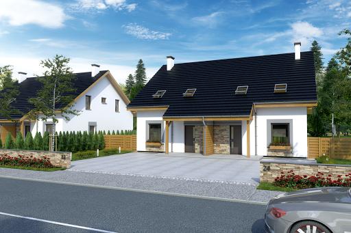 projekt Azalia bez garażu bliźniak B-BL2