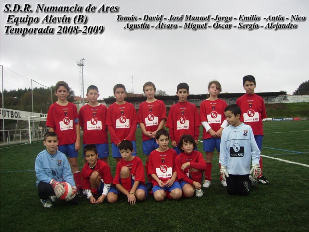 Numancia de Ares. Equipo Alevín B. Temporada 2008-2009