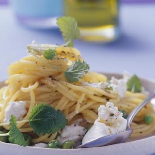 Ricotta and Pea Spaghetti Recipe