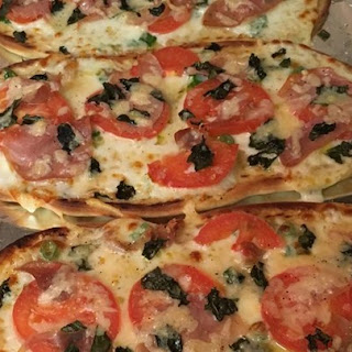 Naan Bread Margherita Pizza with Prosciutto
