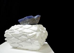 Photo: 17x18x20 cm, Lapis lazuli & white marble, 2014