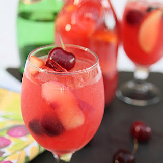 White Peach and Cherry Sangria.