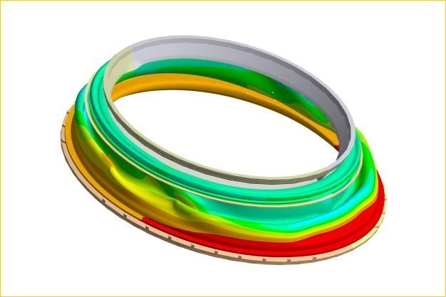 ANSYS - Моделирование резиновой манжеты люка стиральной машины