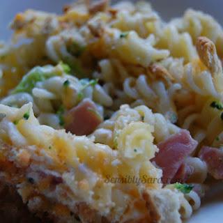 Broccoli, Ham & Cheese Casserole #Recipe