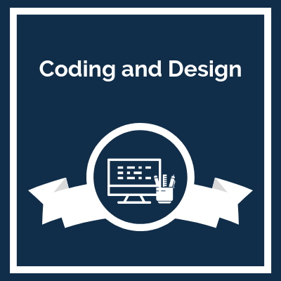 course logo: Coding and Design