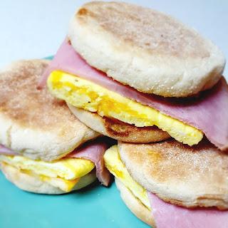 Freezer Ham and Egg Muffins.