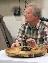 Photo: David talks about the nice burl and it's natural features.