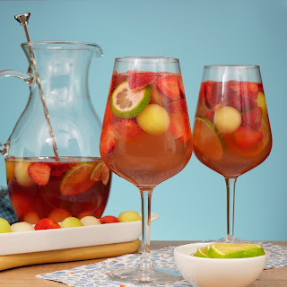 Melon Strawberry Rose Sangria.