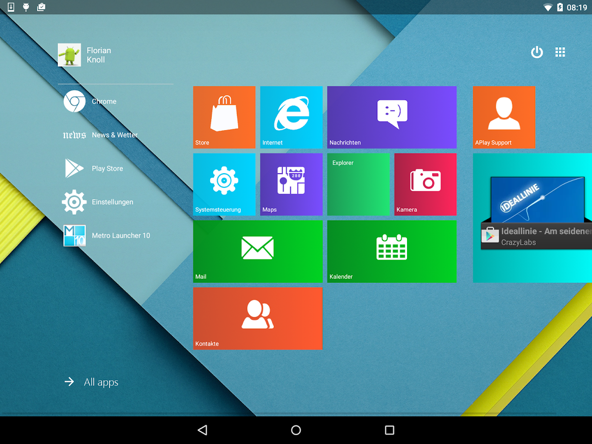 Gmail metro theme - Metro Ui Launcher 10 Screenshot