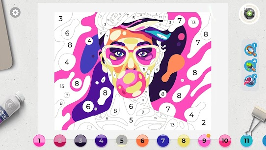 Gallery: Coloring Book by Number MOD APK [Unlimited Boosters] 7