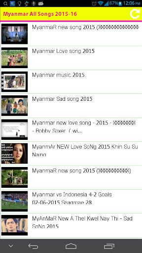 Myanmar All Songs 2015