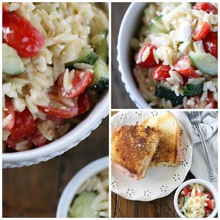 Italian Orzo Pasta Salad.