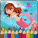 Mermaid Coloring Book icon
