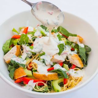 Chicken Noodle Salad with Creamy Chilli Lime Dressing Recipe
