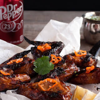 Dr Pepper Spicy Chicken Wings.