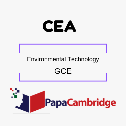 Environmental Technology General Certificate of Education PPT Slides