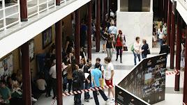 Estudiantes en la Universidad de Almería.