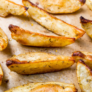 1. Butter-Garlic Oven Fries with Herbs.