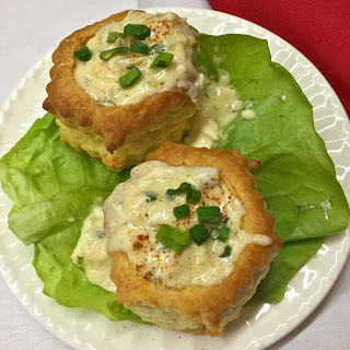 Crab Mornay in Puff Pastry