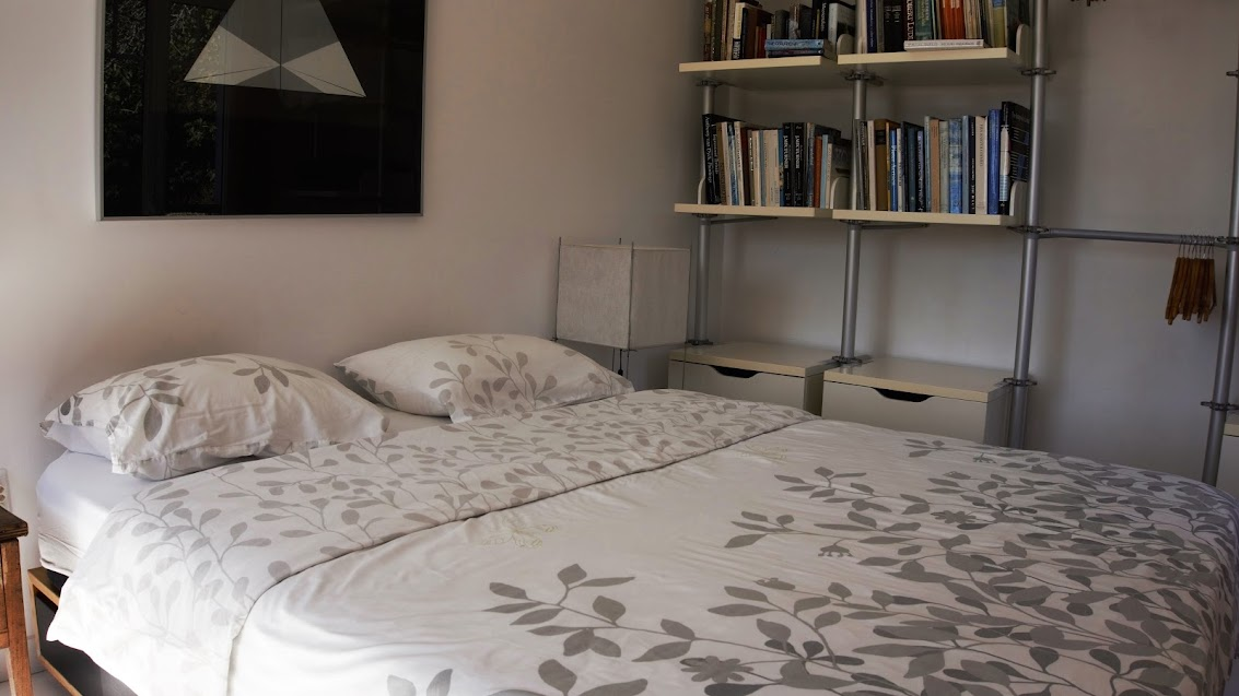 the comfortable and firm boxspring in the master bedroom